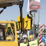 Μηδενική ανοχή στην παράνομη ανάρτηση διαφημιστικών πινακίδων στους δρόμους της Αττικής